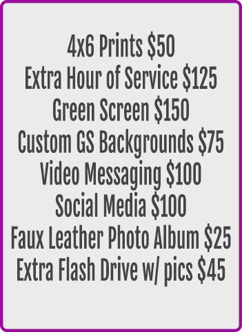 Photo Booth Rental Ad-Ons